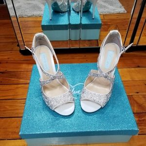 Blue by Betsy Johnson wedding shoes